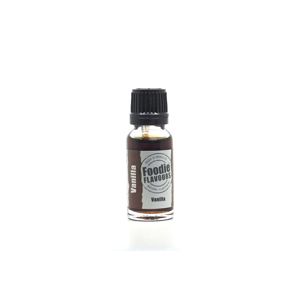 Foodie Flavours Natural Bake Stable VANILLA Flavouring  - Φυσικό Άρωμα με Γεύση Βανίλια 15ml ∞