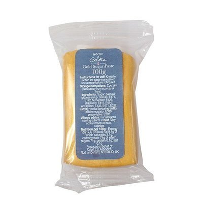 House of Cake Sugarpaste -METALLIC GOLD 100γρ -Ζαχαρόπαστα Χρυσό Μεταλιζέ