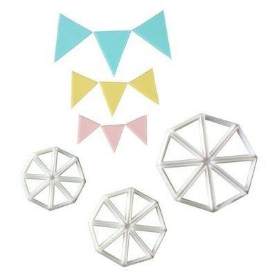 FMM Cutters -EASY BUNTING - Σετ 3τεμ Κουπ πατ Σημαιάκια/τρίγωνο