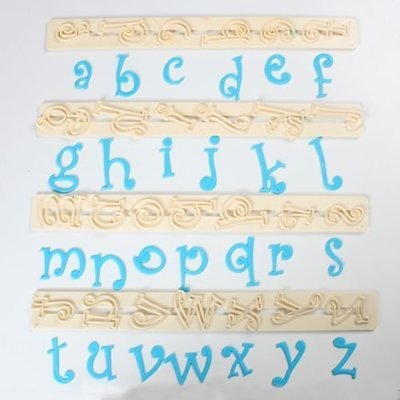 FMM Alphabet Tappit -FUNKY LOWERCASE - Κουπ πατ Λατινικό Αλφάβητο -Μικρά Γράμματα