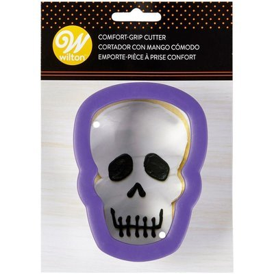Wilton Halloween Metal Grippy Cutter -SKULL/HEAD -Κουπ πατ Νεκροκεφαλή με λαβή σιλικόνης 11εκ ∞