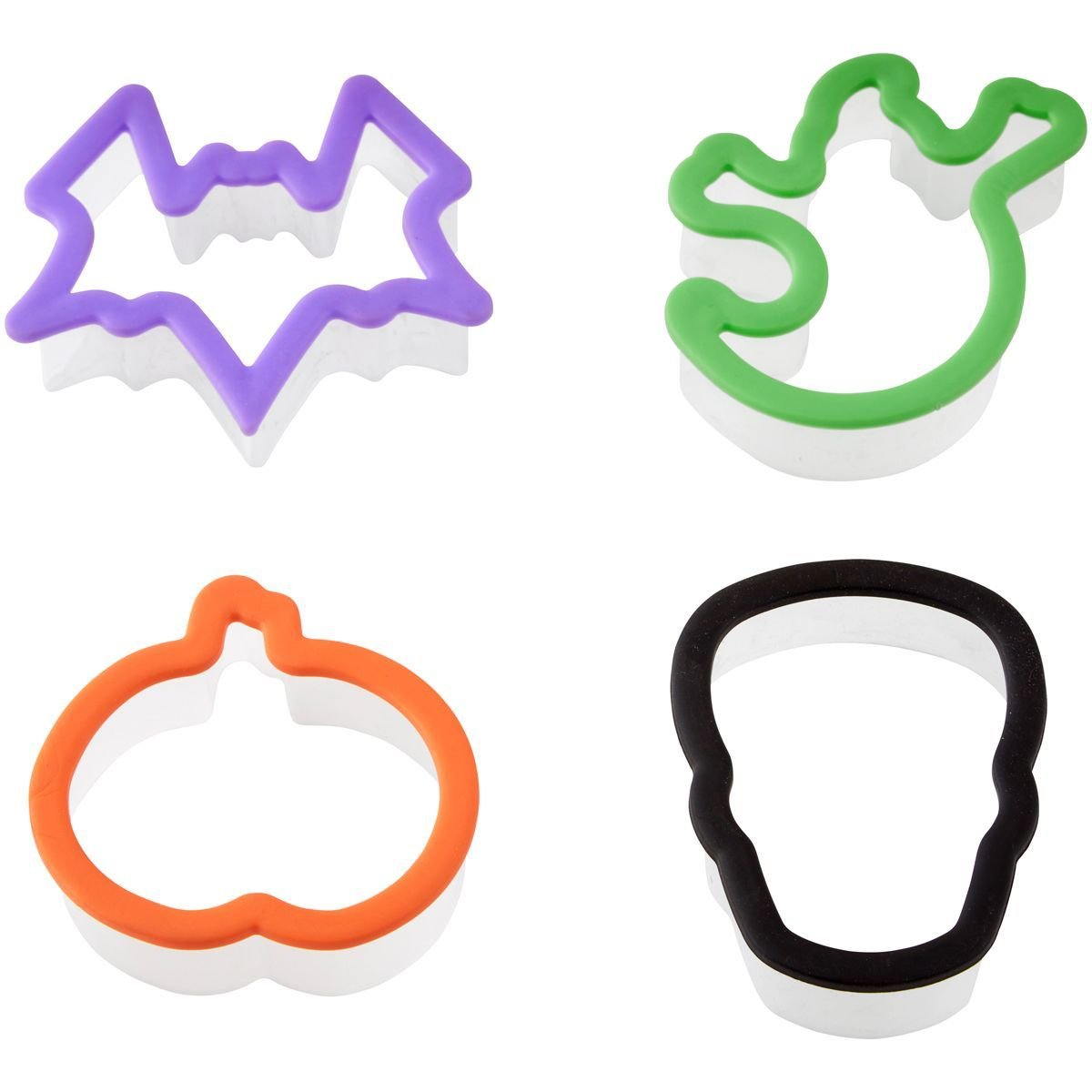 Wilton Halloween -Net of 4 Cookie Cutters - Σετ 4τεμ πλαστικά κουπ πατ με θέμα χαλογουίν
