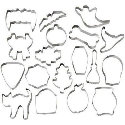 Wilton Halloween -Metal Cookie Cutter Set of 18 Σετ 18τεμ  μεταλλικά κουπ πατ με θέμα χαλοουίν 6-9εκ