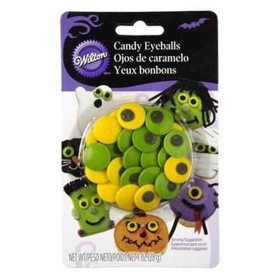 Wilton Halloween Sprinkles -SPOOKY CANDY EYEBALLS - Βρώσιμα Ζαχαρωτά Τρομακτικά Μεγάλα μάτια
