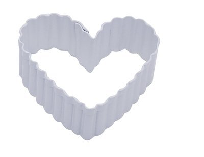 SALE!!! by AH -Cookie Cutter -FLUTED HEART -Κουπ πατ Kυματοειδής Καρδιά  6εκ