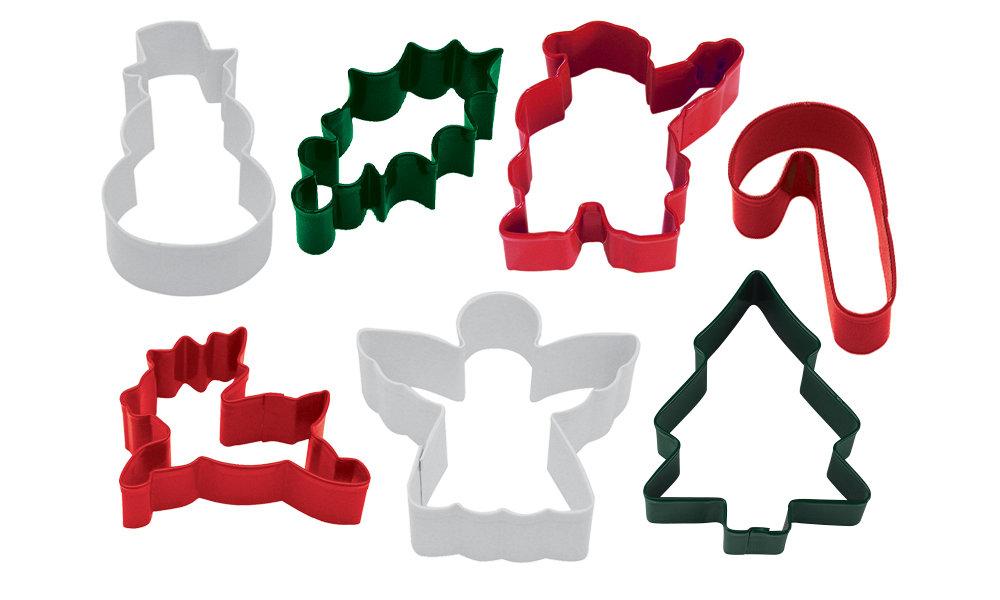 SALE!!! By AH -Set of 7 Cookie Cutters 'CHRISTMAS MIX' - Σετ 7 τεμ κουπ πατ Χριστουγεννιάτικο Θέμα