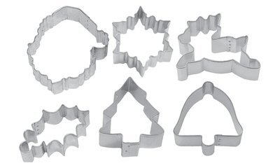 SALE!!! By AH -Set of 6 Cookie Cutters 'TRADITIONAL MERRY CHRISTMAS VARIETY' - Σετ 6 τεμ κουπ πατ Παραδοσιακά Χριστούγεννα