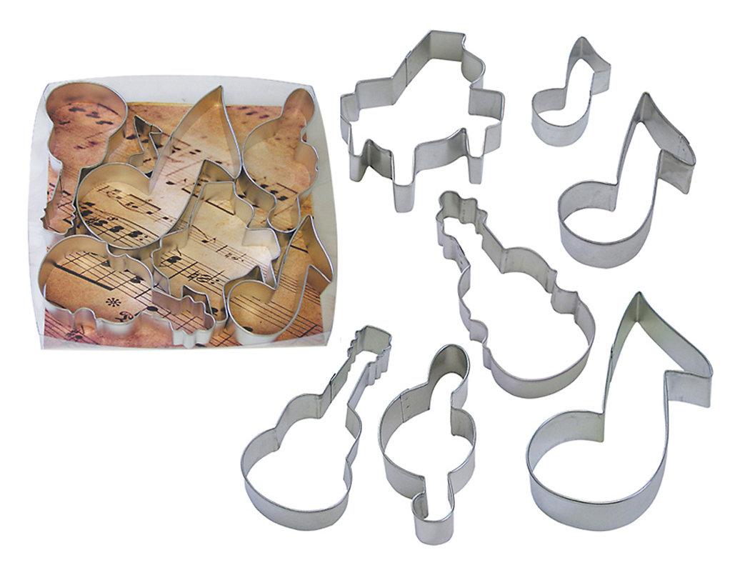 SALE!!! By AH -Set of 7 Cookie Cutters 'MUSIC' - Σετ 7 τεμ κουπ πατ με θέμα τη Μουσική 7εκ