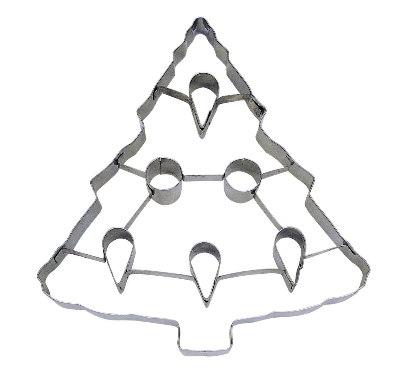 SALE!!! Anniversary House -PUNCH-OUT Cookie Cutter -CHRISTMAS TREE -Κουπ πάτ Χριστουγεννιάτικο Δέντρο με Σχέδια Εσωτερικά - 19εκ