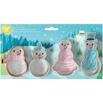 SALE!!! Wilton Christmas Cookie Cutter Set of 4 -SNOWMAN FAMILY - Σετ 4τεμ Κουπ πατ οικογένεια χιονανθρώπων