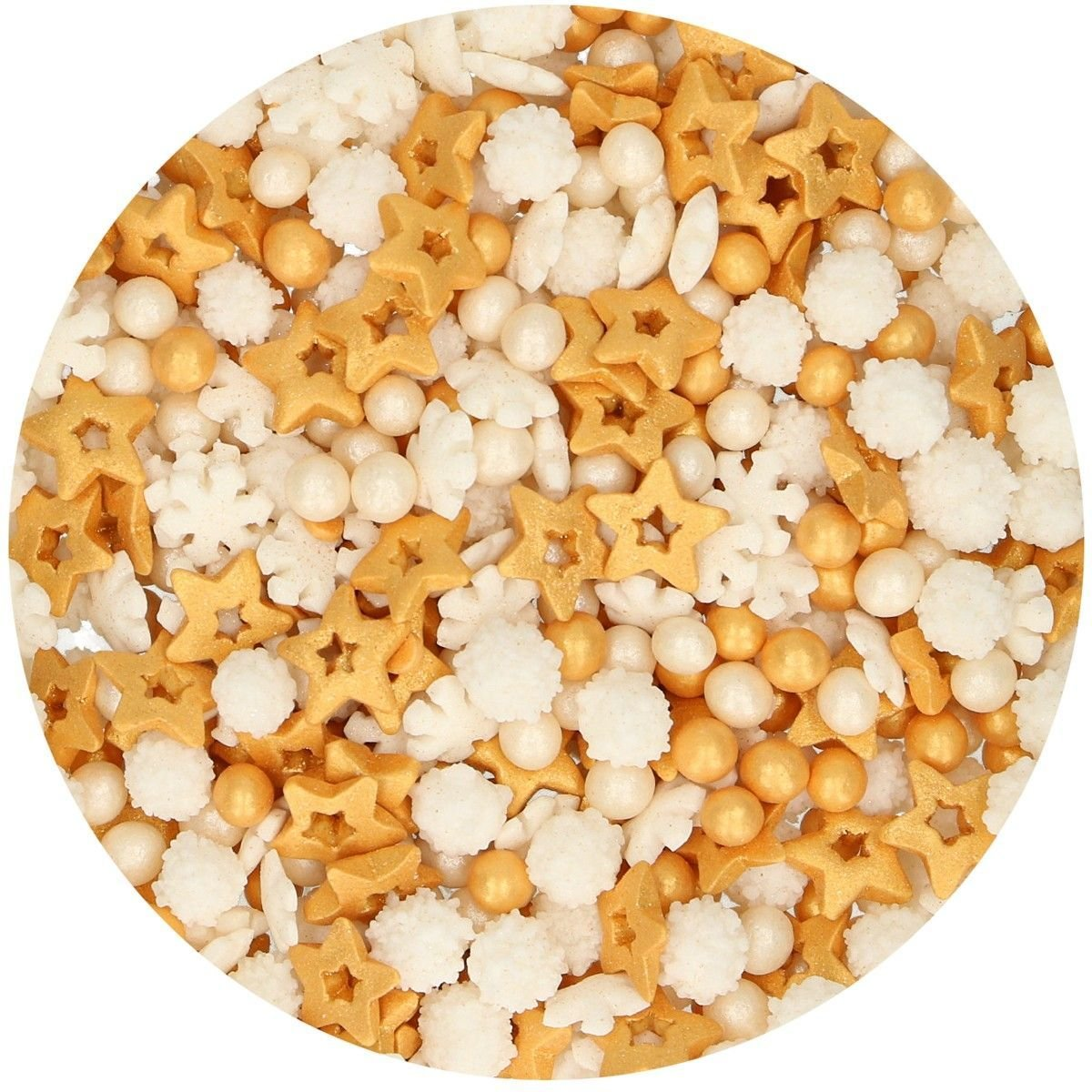 FunCakes Sprinkle Mix 180γρ -GOLD MEDLEY -Μείγμα  Ζαχαρωτών - Χρυσό