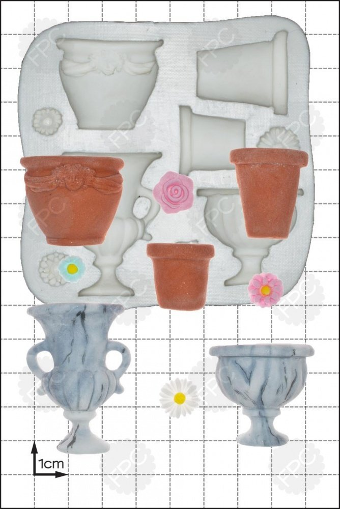 FPC Silicone Mould -GARDEN URNS -Καλούπι Σιλικόνης Γλάστρα