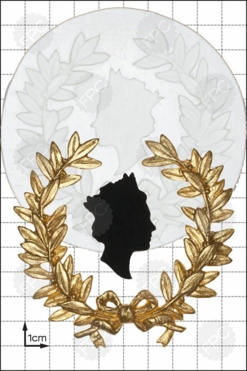 SALE!!! FPC Silicone Mould -QUEEN'S HEAD WREATH - Καλούπι Σιλικόνης Βασιλικό Στεφάνι