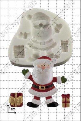 SALE!!! FPC Silicone Mould -SANTA & GIFTS -Καλούπι Σιλικόνης Άγιος Βασίλης με Δωράκια