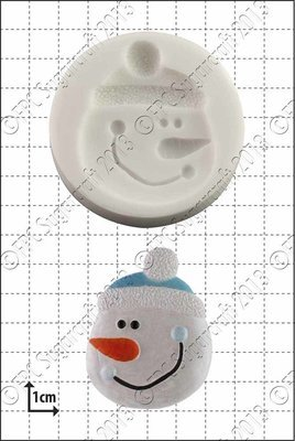 SALE!!! FPC -Silicone Mould -SNOWMAN FACE - Καλούπι Σιλικόνης Φατσούλα Χιονάνθρωπου