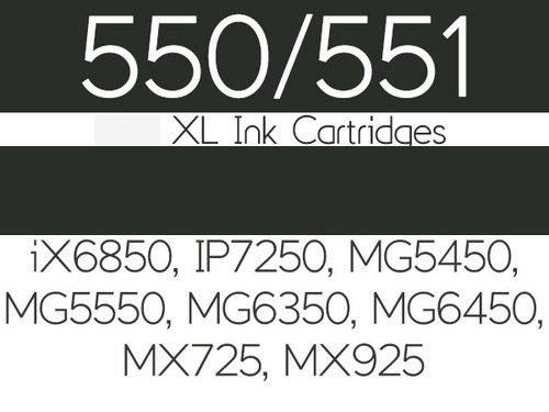 Edible Ink Cartridge -BLACK LARGE for Canon IP7250, -Βρώσιμο Μελάνι Μαύρο Μεγάλο