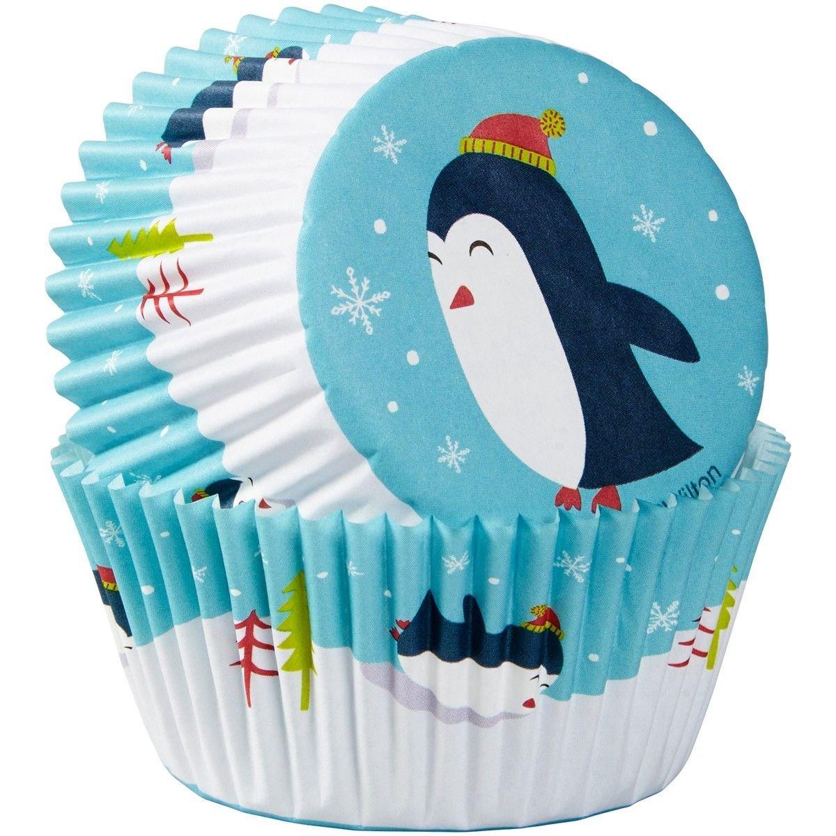 Wilton Christmas Cupcake Cases -PENGUINS - Θήκες ψησίματος Πιγκουίνος 75 τεμ