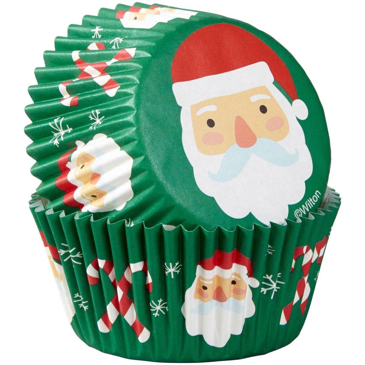 Wilton Christmas Cupcake Cases -SANTA & CANDY CANE - Θήκες Ψησίματος Αγ. Βασίλης & Γλειφιτζούρι 75 τεμ