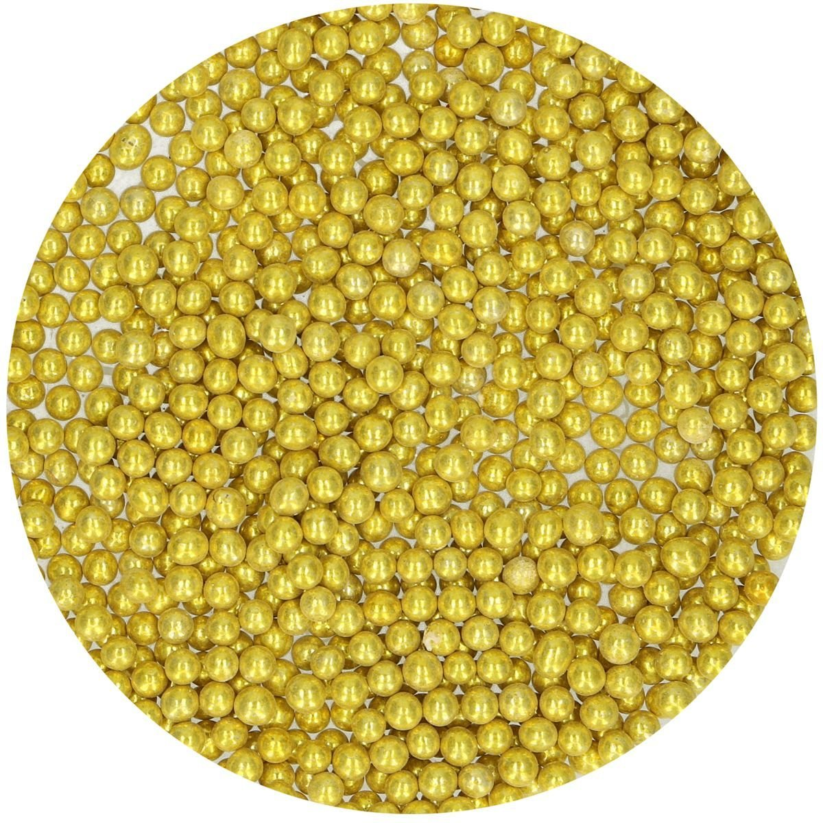FunCakes Sugarballs -4mm METALLIC GOLD 80g - Ζαχαρωτά Χρυσές Μεταλλικές Μπιλίτσες/Πέρλες