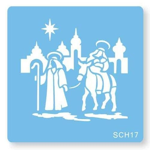 JEM Stencil -NAVITY SCENE -Στένσιλ Γέννηση Χριστού