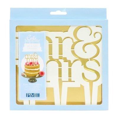 SALE!!! PME Cake Topper Cutter -'Mr & Mrs' -MODERN Design - Κουπ πατ Τόπερ Κύριος & Κυρία