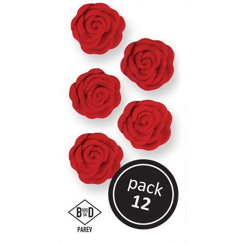 PME Edibles -ICING RED CUPID ROSES -Βρώσιμα Ζαχαρωτά Κόκκινα Τριαντάφυλλα 12 τεμ