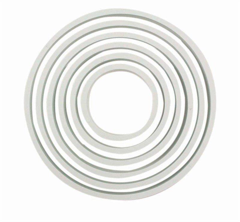 PME Geometric Basics -Set of 6 -ROUND/CIRCLES Cutters 6pcs - Σετ 6τεμ κουπ πατ Πλαστικά Βασική Σειρά Στρογγυλά/Κύκλοι