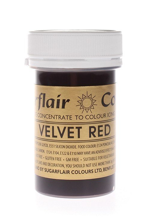Sugarflair Paste Colours -VELVET RED -Χρώμα σε Πάστα -Βαθύ Κόκκινο