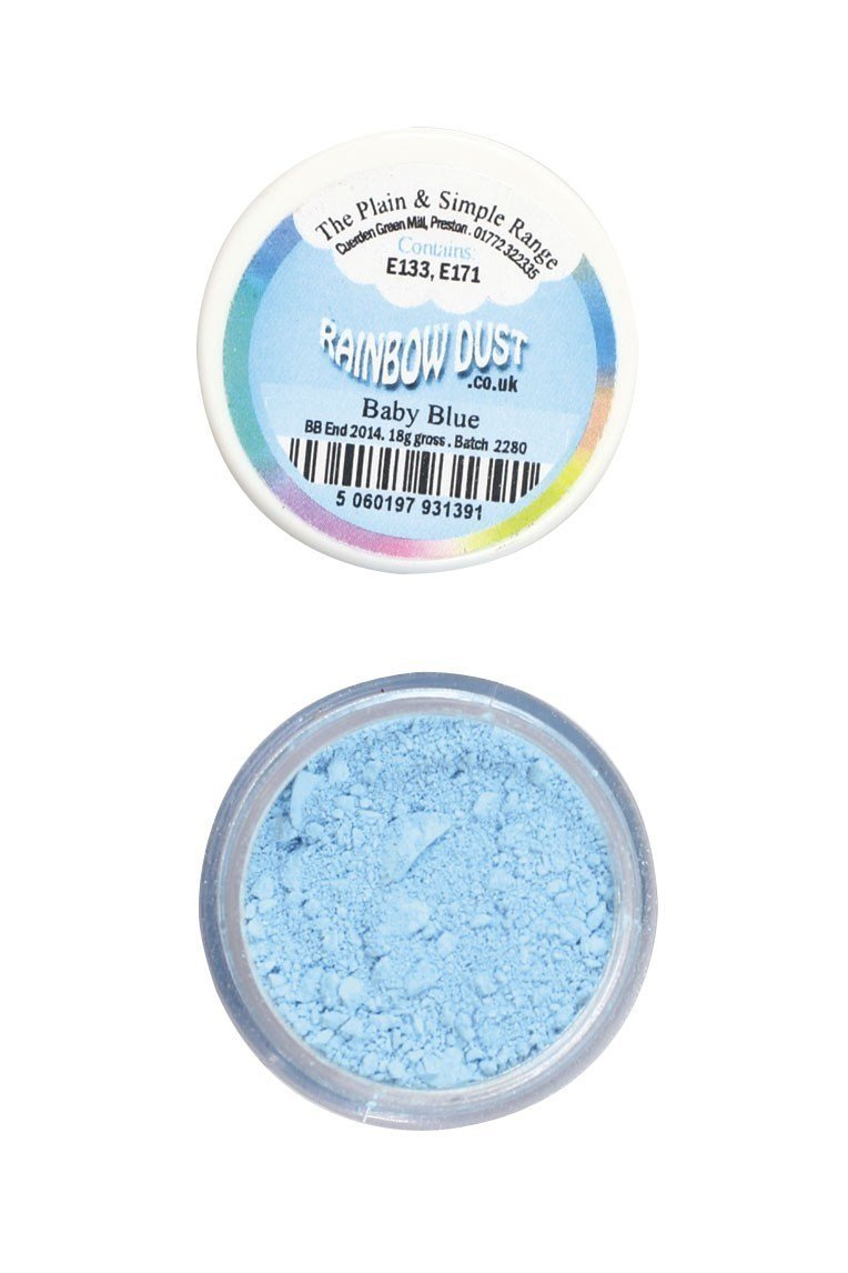 Rainbow Dust Edible Dust -Matt BABY BLUE - Βρώσιμη Σκόνη Ματ Γαλάζιο