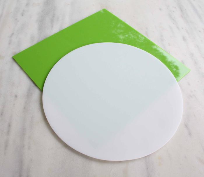 Cakes By Samantha Perspex Work Board Square White -Επιφάνεια Εργασίας Aπό Πλεξιγκλάς Τετράγωνη Λευκή 35x35εκ
