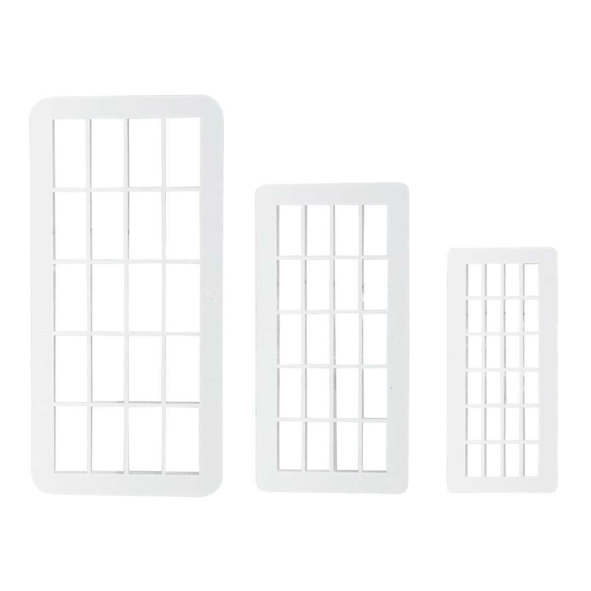 PME Geometric Multicutters -Set of 3 -BRICKS - Σετ 3τεμ Πολλαπλό Κουπ πατ Τουβλάκια