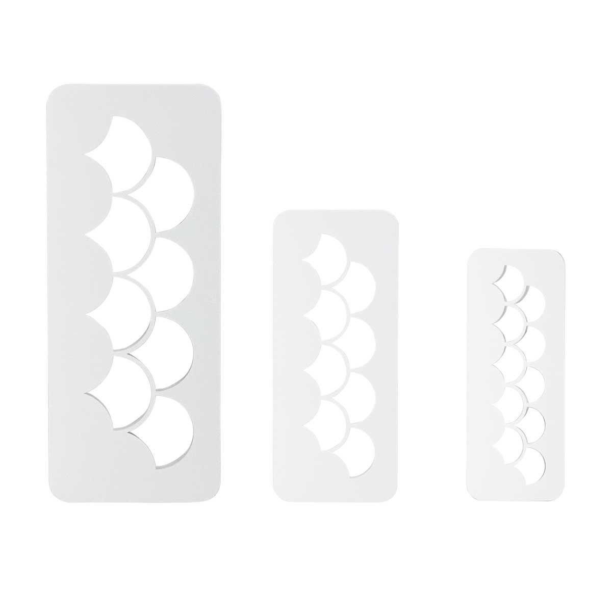 PME Geometric Multicutters -Set of 3 -FISH/MERMAID SCALES -Σετ 3τεμ Πολλαπλό Κουπ πατ Λέπια