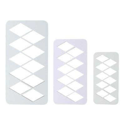 PME Geometric Multicutters -Set of 3 -EXTRA LARGE DIAMONDS - Σετ 3τεμ Πολλαπλό Κουπ πατ Μεγάλος Ρόμβος ∞