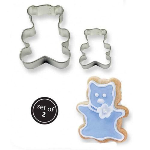 SALE!!! PME Cookie Cutters -Set of 2 -TEDDY BEARS -Σετ 2τεμ Κουπ πατ  Αρκουδάκια