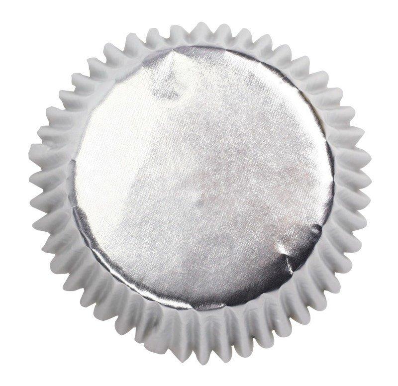 SALE!!! Culpitt BULK Cupcake Cases -METALLIC SILVER -Αλουμινένιες Θήκες Ψησίματος -Μεταλλικό Ασημί 495 τεμ