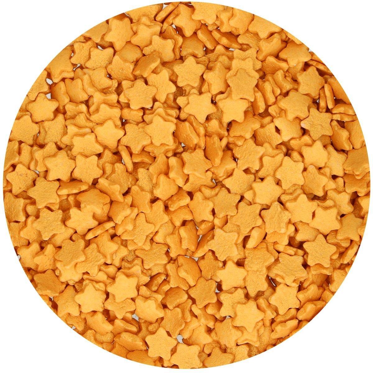 FunCakes Sprinkles -STARS -GOLD -Ζαχαρωτά Χρυσά Αστέρια 60γρ