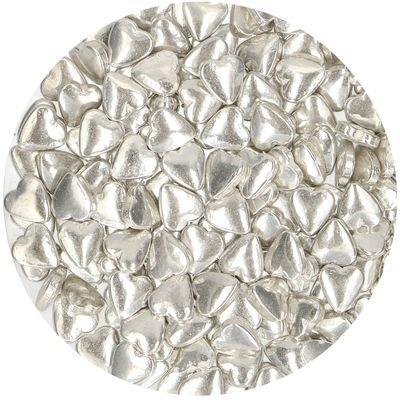 FunCakes Sprinkles -HEARTS -METALLIC SILVER - Μείγμα Ζαχαρωτών Ασημένιες Καρδιές 80γρ
