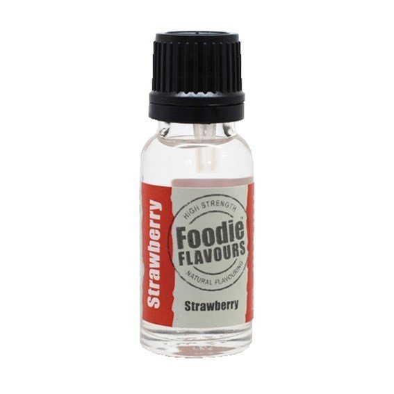 Foodie Flavours Natural STRAWBERRY Flavouring -Φυσικό Άρωμα με Γεύση Φράουλα 15ml ∞