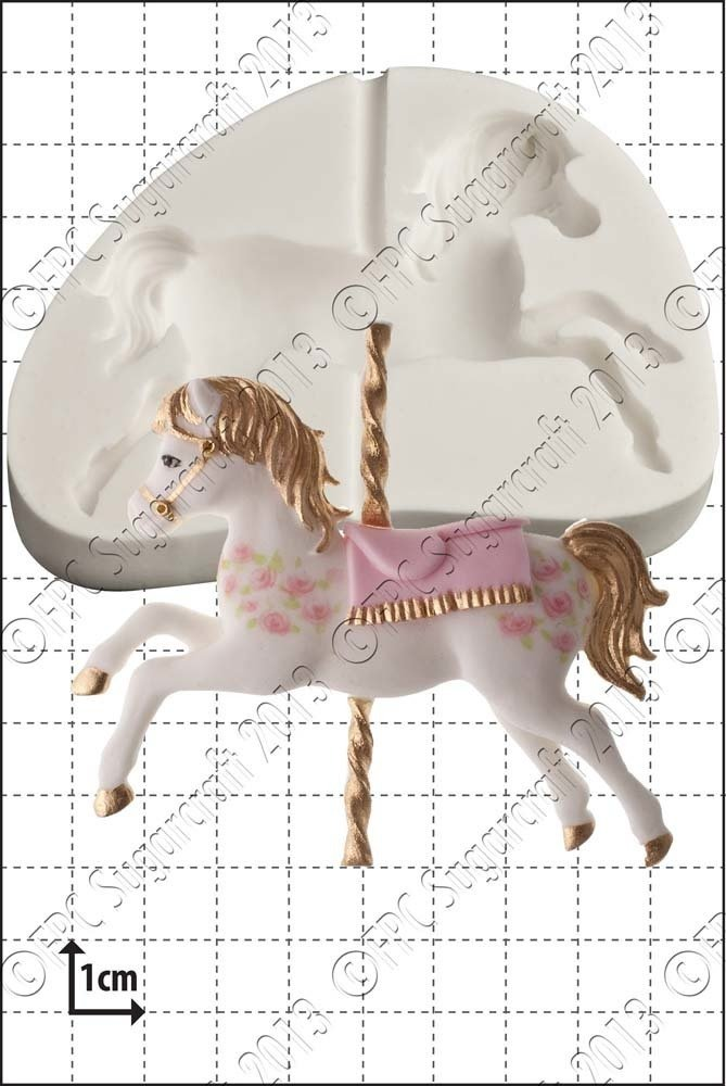 FPC Silicone Mould -CAROUSEL HORSE -Καλούπι Σιλικόνης Αλογάκι Καρουζέλ