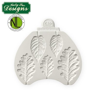 Katy Sue Silicone Mould by Nicholas Lodge -BLACKBERRY & OAK LEAVES -Καλούπι Σιλικόνης Φύλλα Bατόμουρου & Bελανιδιάς