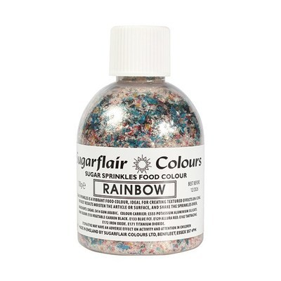 Sugarflair -Sparkling Sugar Sprinkles -RAINBOW 100g - Χρωματιστή Ζάχαρη - Ουράνιο Τόξο