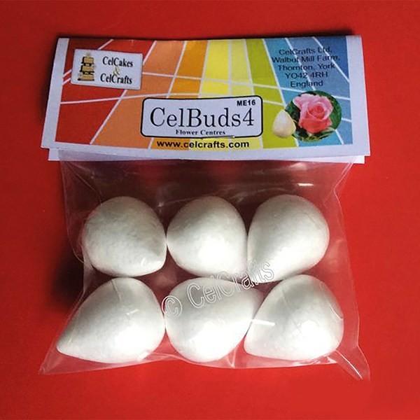 CelBuds4 Polystyrene Flower Buds 28mm -Μπουμπούκια Λουλουδιών Πολυστερίνης 6 τεμ ∞