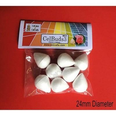 CelBuds3 Polystyrene Flower Buds 24mm -Μπουμπούκια Λουλουδιών Πολυστερίνης 8 τεμ ∞