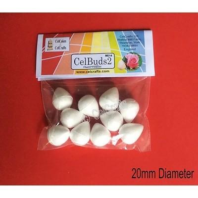 CelBuds2 Polystyrene Flower Buds 20mm -Μπουμπούκια Λουλουδιών Πολυστερίνης 10 τεμ ∞