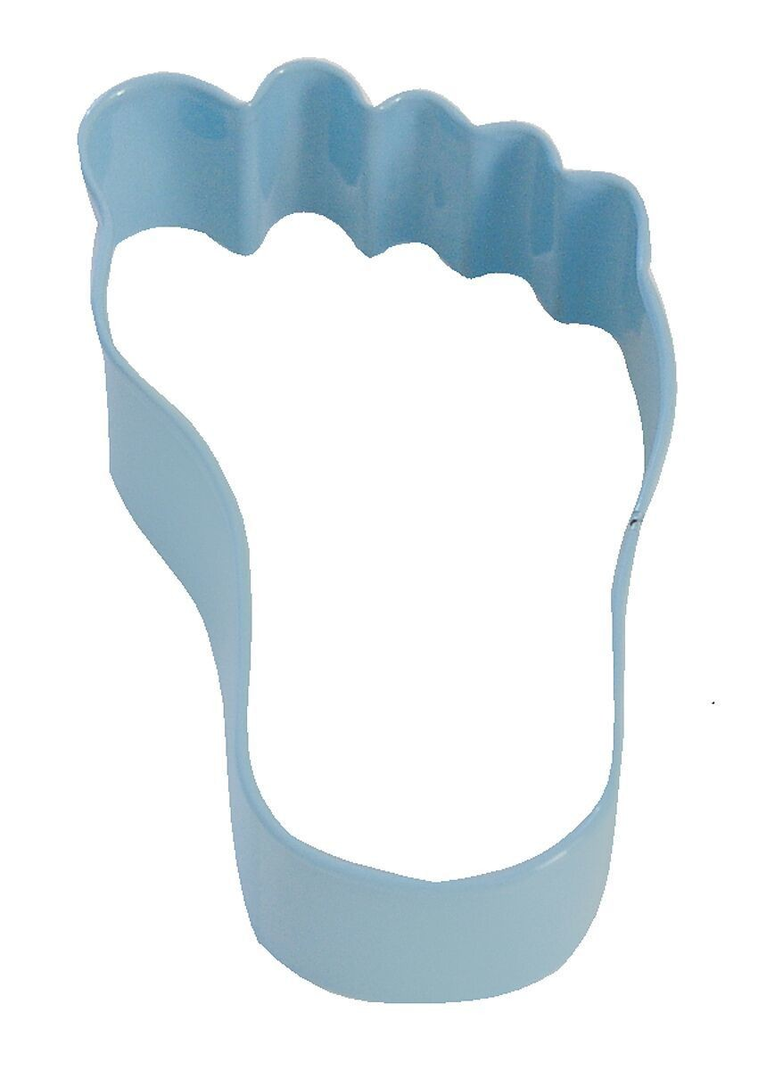 By AH -Cookie Cutter -BABY'S FOOT -BLUE -Κουπ πατ Ποδαράκι Μωρού Μπλε 9εκ