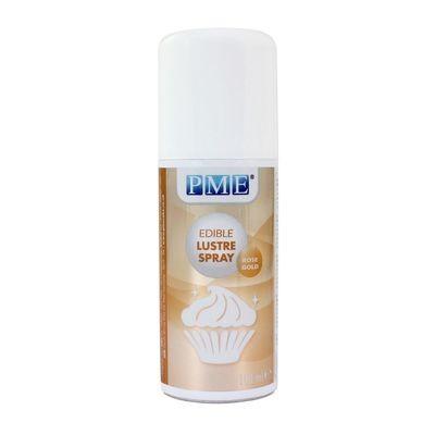 PME Edible Spray -Metallic ROSE GOLD -Βρώσιμο Σπρέι Γυαλάδας Ροζ Χρυσό 100ml