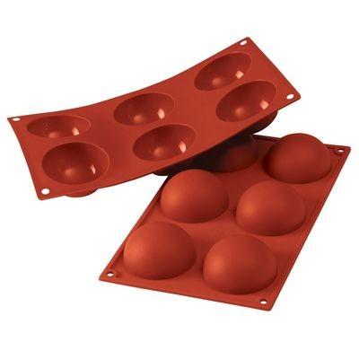 Silikomart - Semisphere Mould -Καλούπι Σιλικόνης για 6 Ημισφαίρια Μεγάλα-7εκ