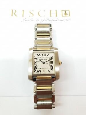 Cartier Tank Francaise Stahl Gold, Automatik