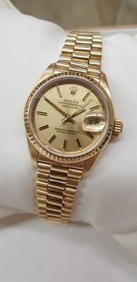 Rolex, Lady-Datejust 18kt Gold