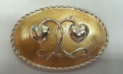 ovale Gürtelschließe mit Sterlingsilber